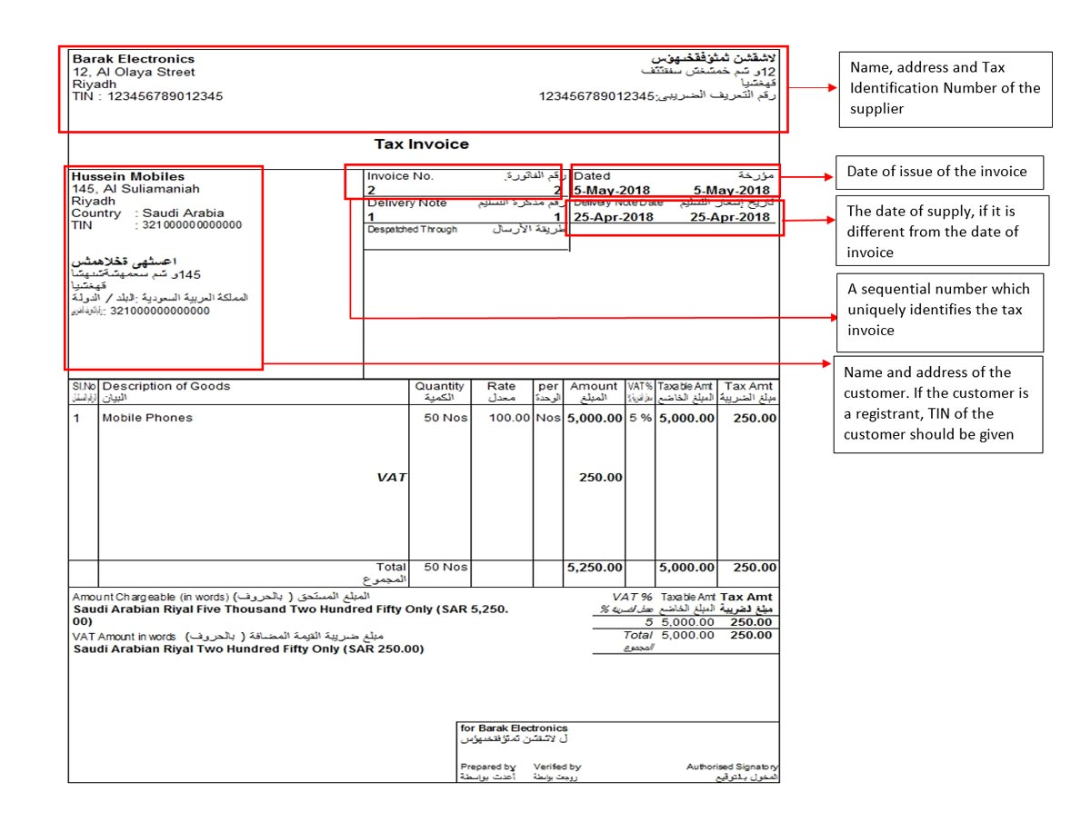 sample vat invoice