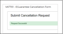 vat701 cancellation request